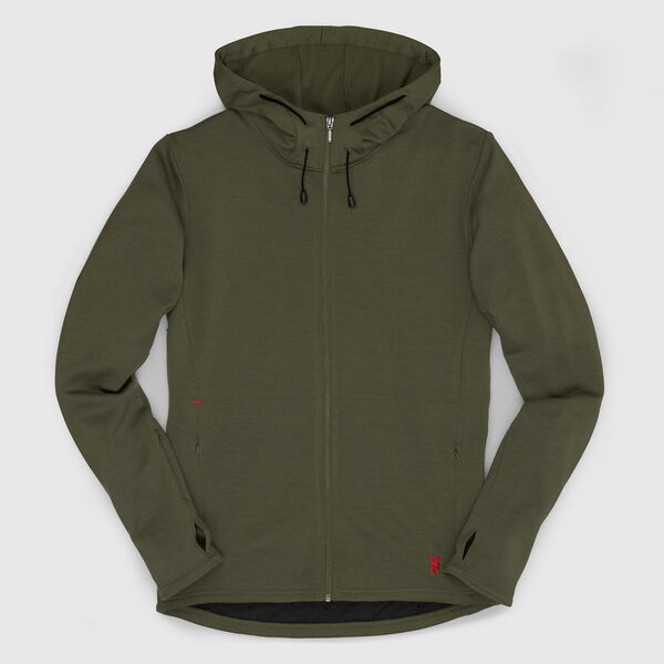 Merino Wool Cobra Hoodie in Rifle - medium view.