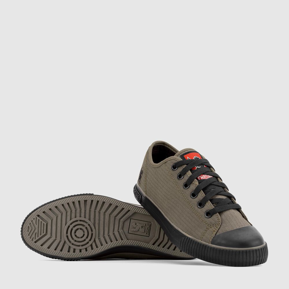 Box Canvas Kursk Sneaker in Olive / Black - large view.