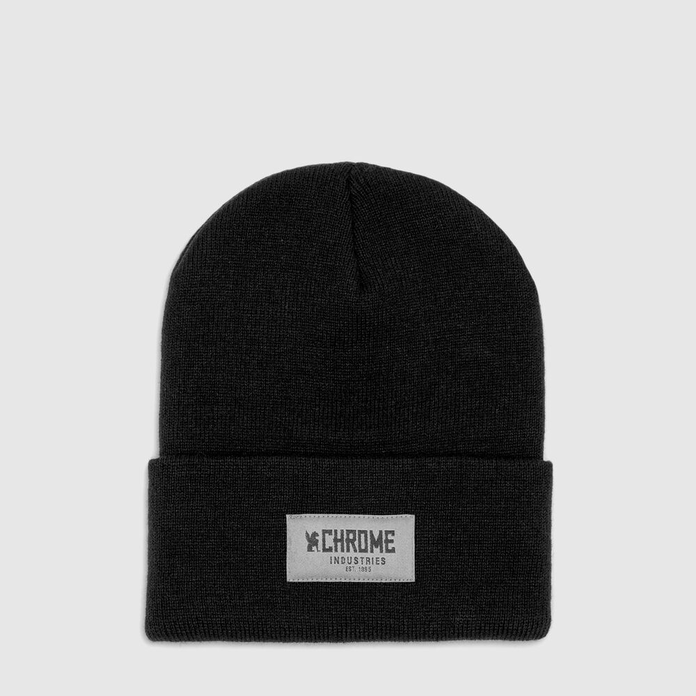 Chrome 1995 Beanie in Black - large view.