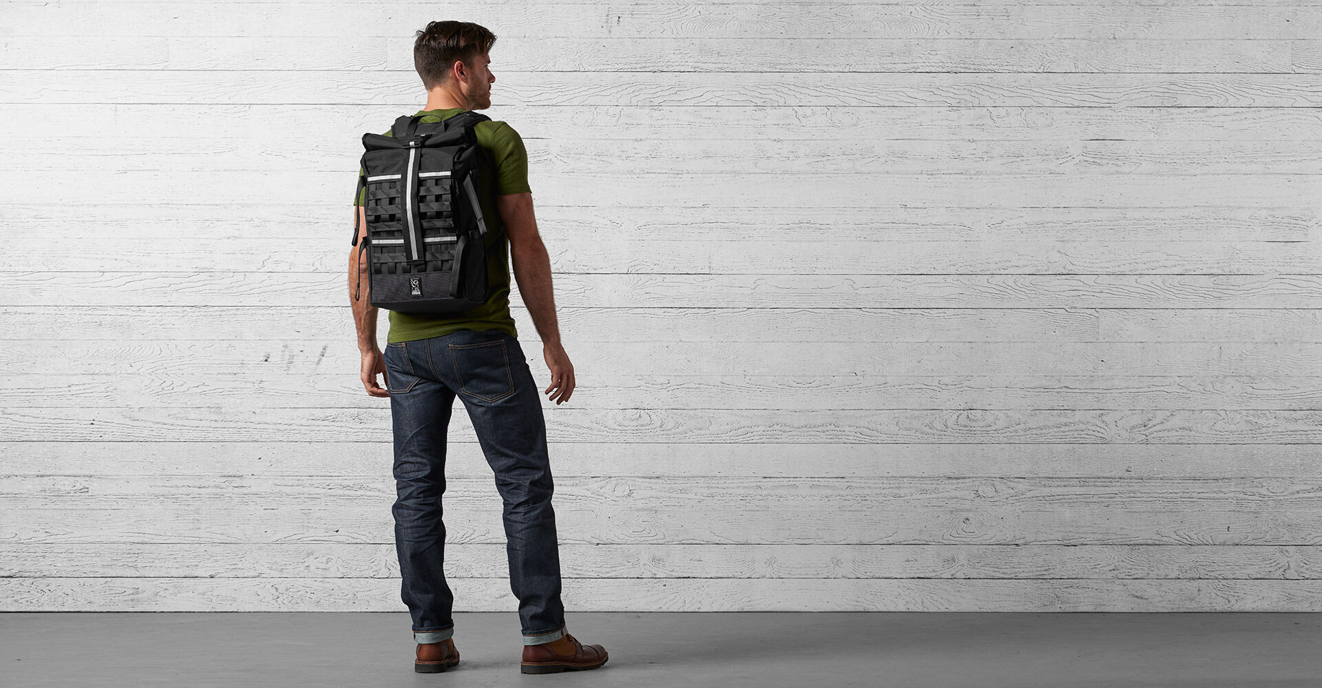 Night Barrage Cargo Backpack in Night / Black - wide view.