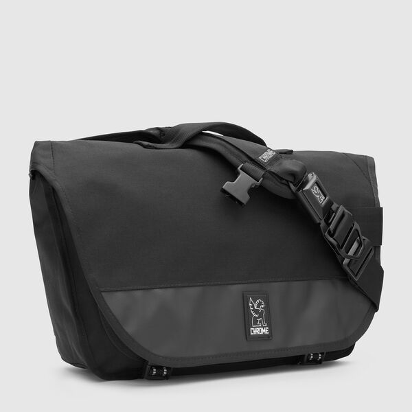 Mini Buran Messenger Bag in All Black - medium view.