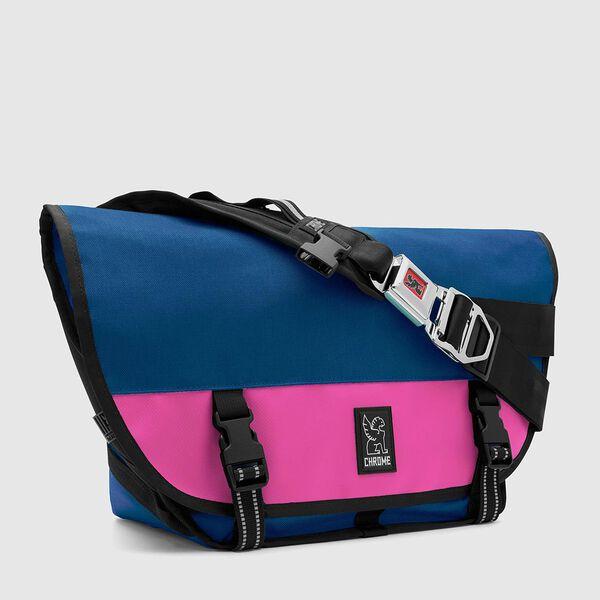Mini Metro Messenger Bag in Royal Blue / Pink - medium view.