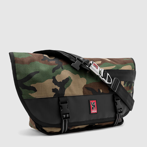 Citizen Messenger Bag in Woodland Camo / Black - medium view.