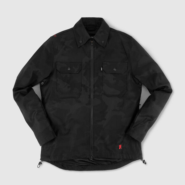 Ike Windshirt in Black Camo - medium view.