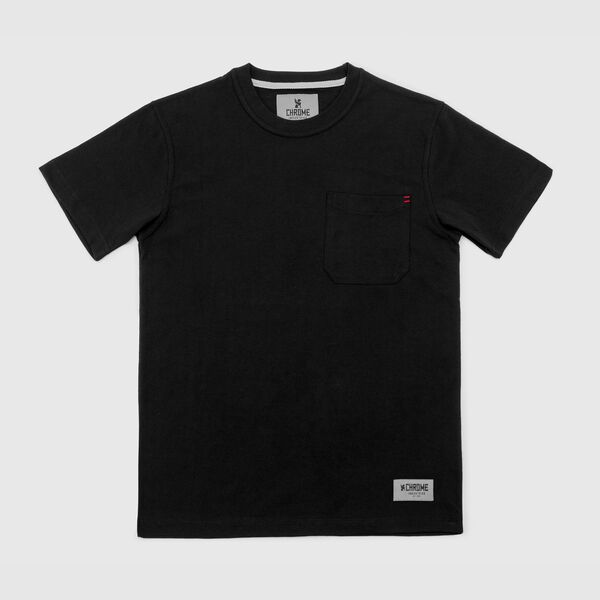 Dexter Pocket Tee in Black - medium view.