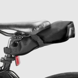 Knurled Welded™ Gravel Bike Seat Bag - Final Sale in Black - small view.