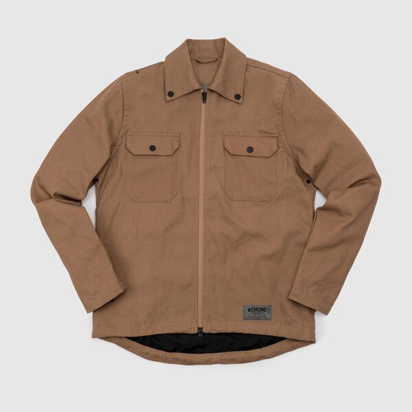 Canvas Ike Windshirt in Golden Brown - medium view.