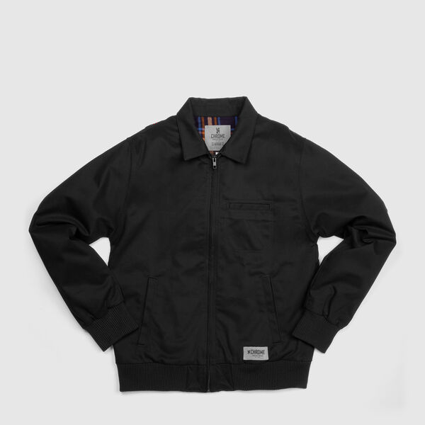 Golf Jacket in Black - medium view.