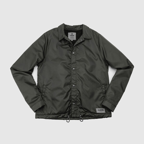 Lined Dearborn Coaches Jacket in Olive - medium view.