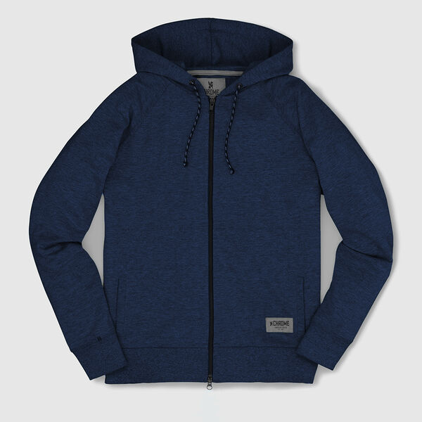 Essex Custom Zip Hoodie in Indigo - medium view.