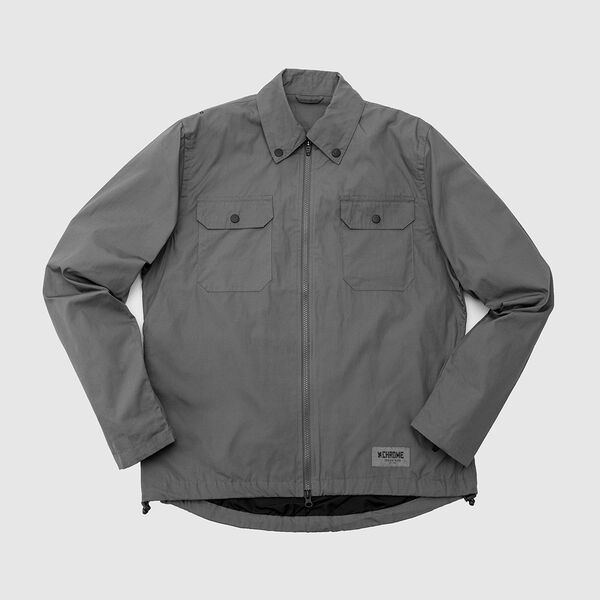 Poplin Ike Windshirt in Wrench - medium view.