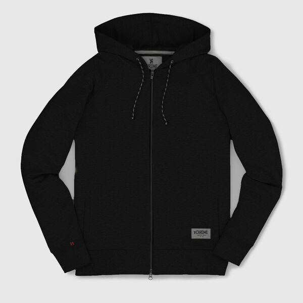 Essex Custom Zip Hoodie in Black - medium view.