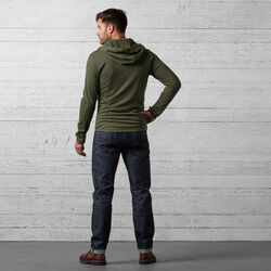 Merino Wool Cobra Hoodie in Rifle - wide-hi-res view.