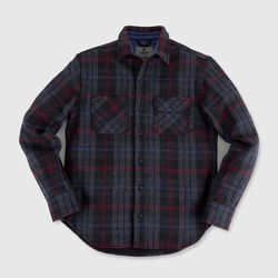 Woven Workshirt in Large Window Pane - small view.