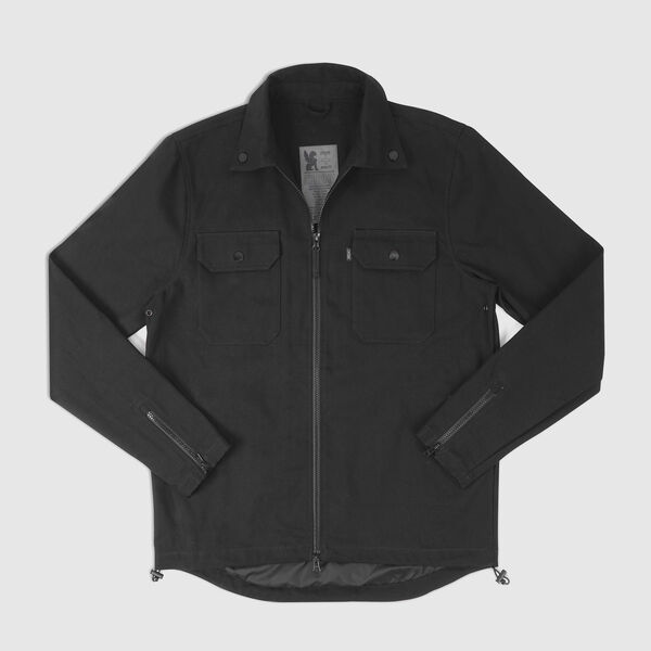 Canvas Ike Windshirt in Black - medium view.