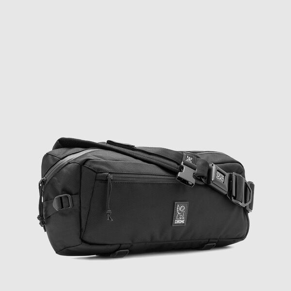 Kadet Nylon Messenger Bag in Ballistic Black - medium view.