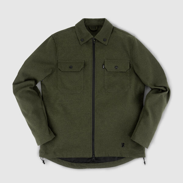 Ike Windshirt in Olive - medium view.