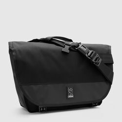 Buran II Messenger Bag - Final Sale in All Black - small view.