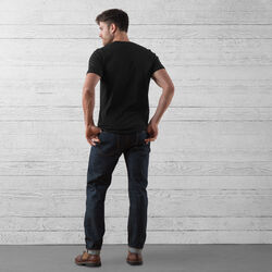 Wyatt Five Pocket Jean in Indigo Dyneema - wide-hi-res view.