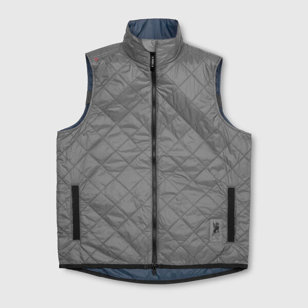 Warm Vest in Indigo / Wrench - medium view.