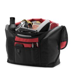 Citizen Messenger Bag in Black / Red - small view.