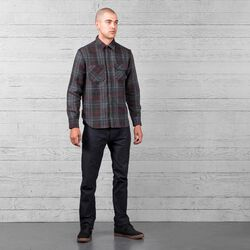 Woven Workshirt in Large Window Pane - wide-hi-res view.