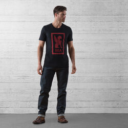 Seattle Hub Tee in Black / Red Graphic - wide-hi-res view.