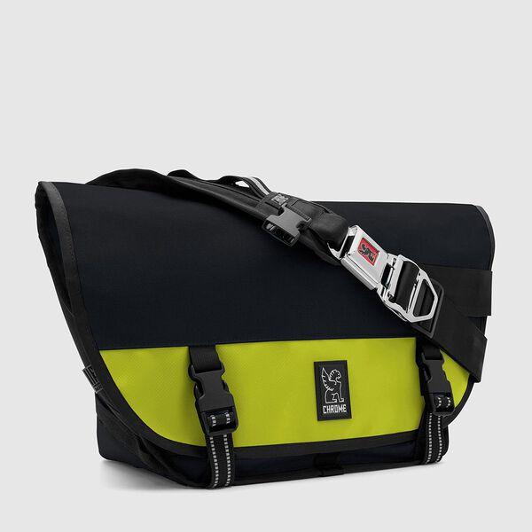 Mini Metro Messenger Bag in Indigo / Lime - medium view.
