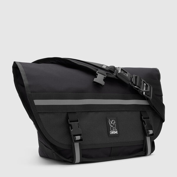 Mini Metro Messenger Bag in Night / Black - medium view.