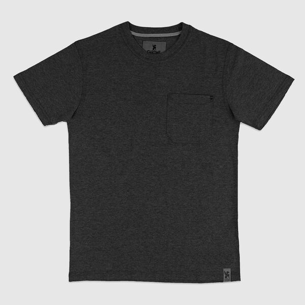 Dexter Pocket Tee in Charcoal - medium view.