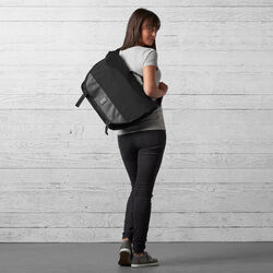Buran II Messenger Bag - Final Sale in All Black - wide-hi-res view.