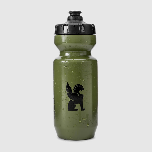 Cinelli Chrome Water Bottle in Olive - medium view.