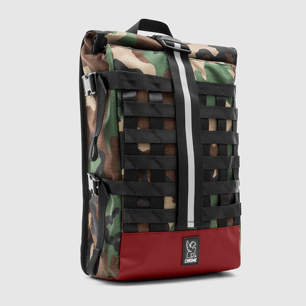 Barrage Cargo Backpack in Woodland Camo / Brick - medium view.