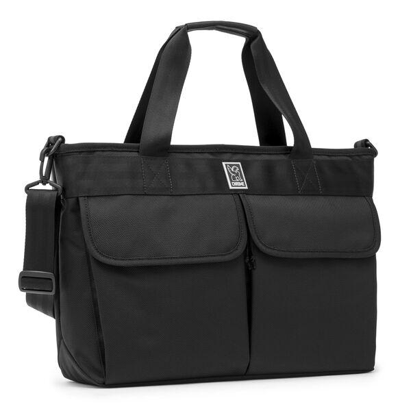 Juno Tote Bag in All Black - medium view.