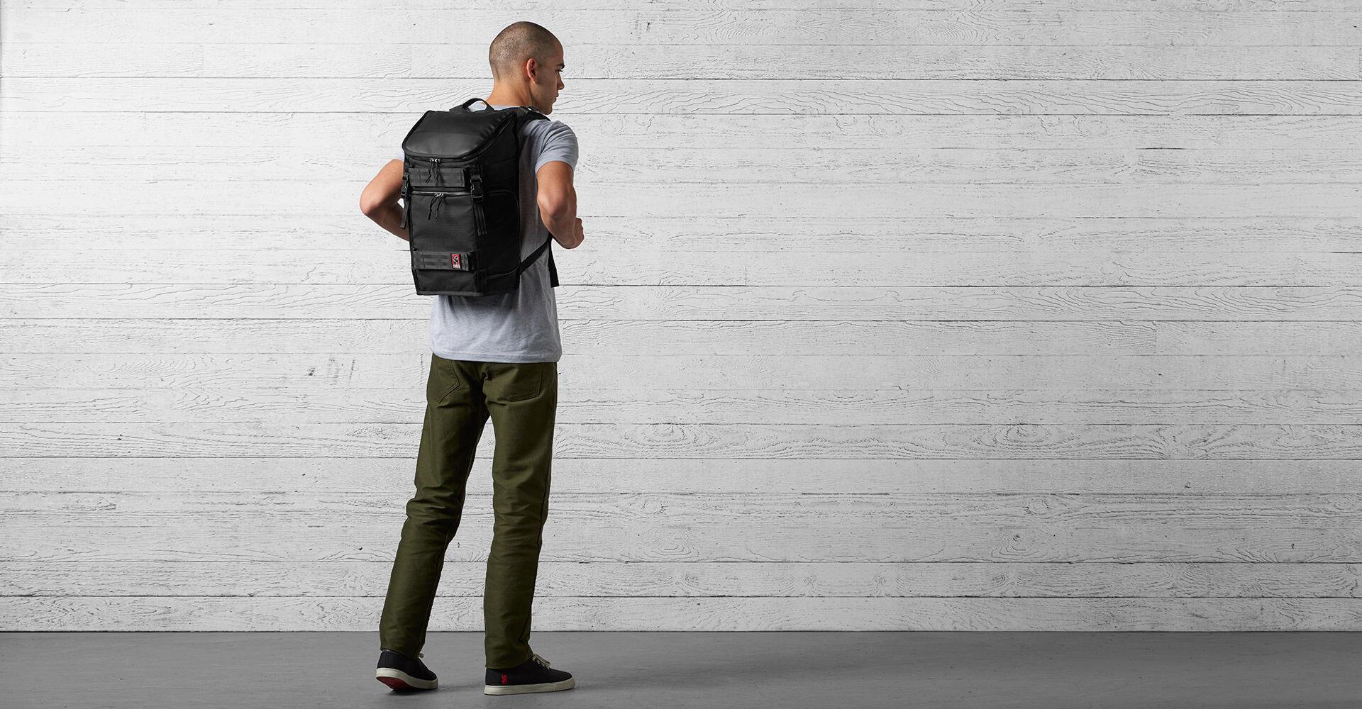 Niko Pack Backpack in Black - wide view.