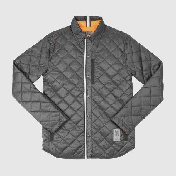 Warm Workshirt - Final Sale in Black / Orange - medium view.