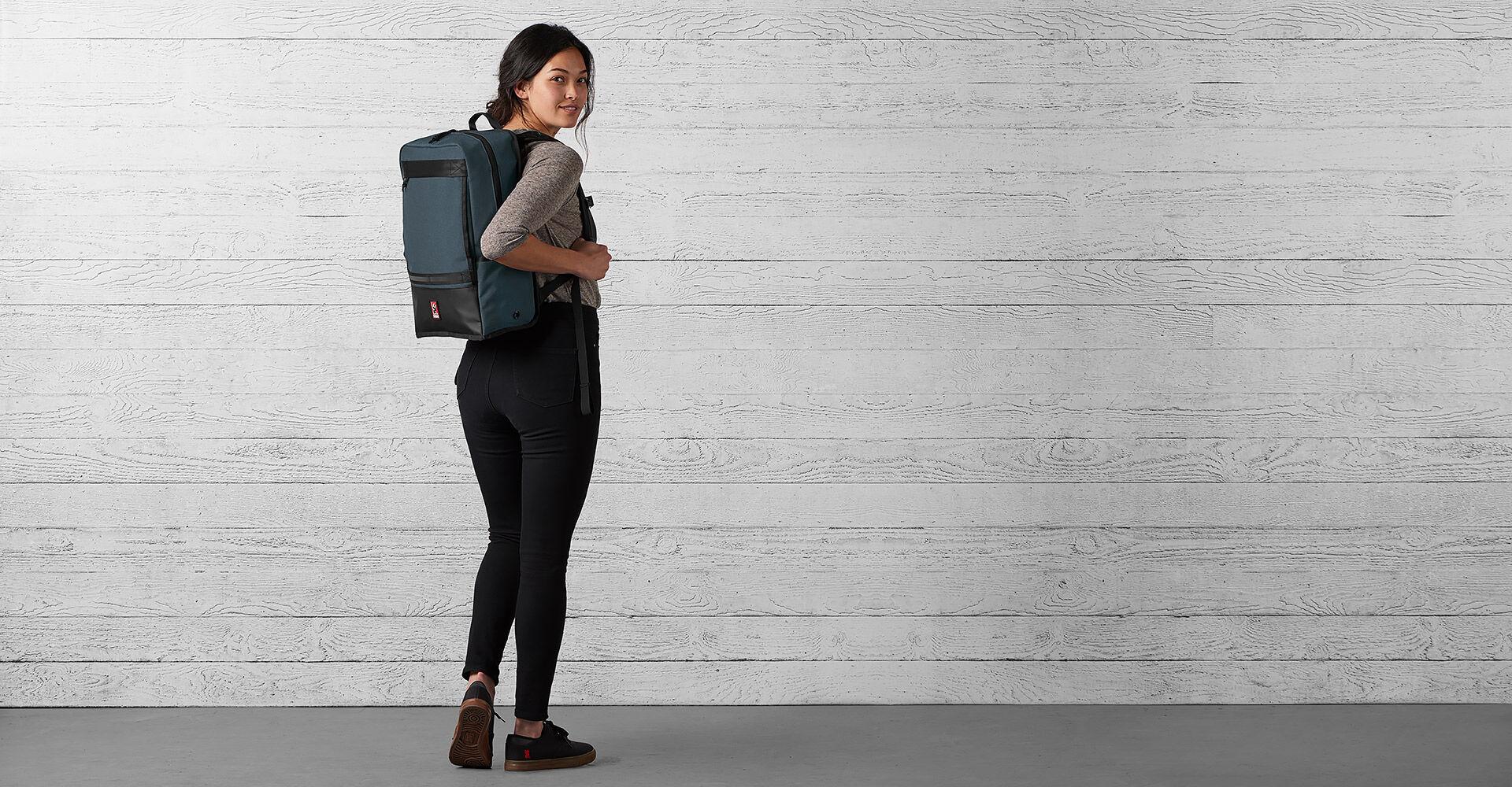 Hondo Backpack in Indigo / Black - wide view.