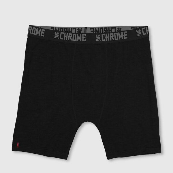 Merino Wool Boxer Brief in Black - medium view.