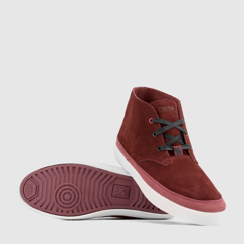Suede Chukka in Brick / Off White - large view.