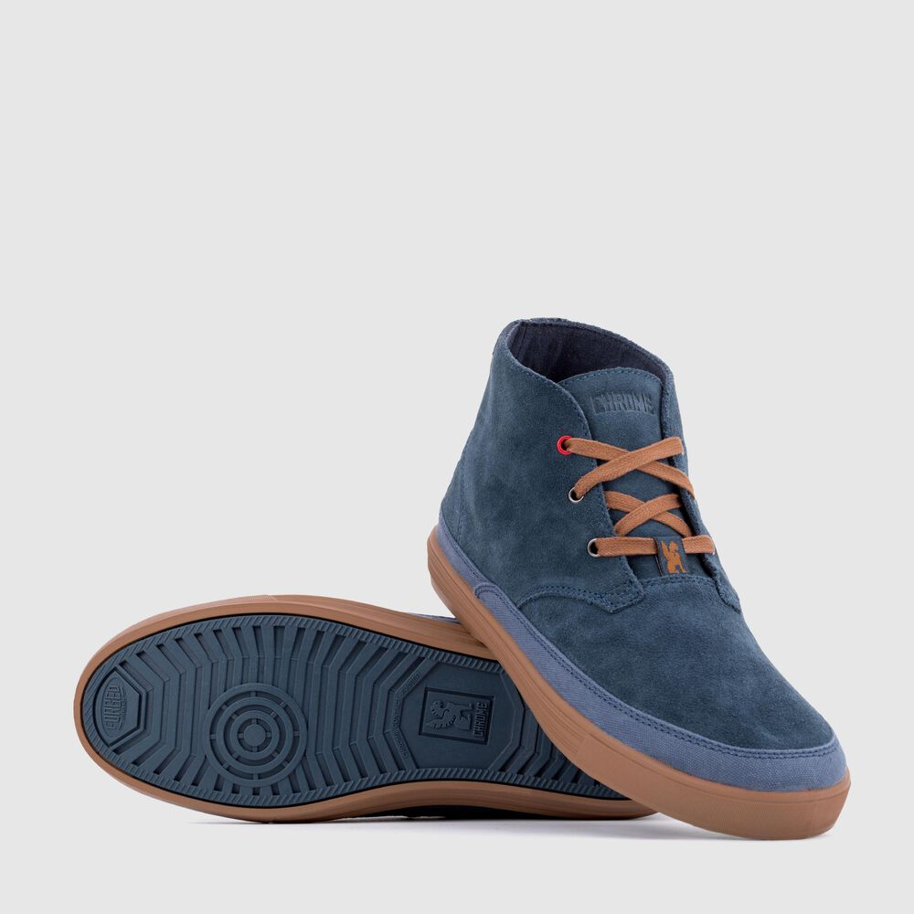 Suede Chukka in Indigo / Golden Brown - large view.