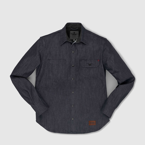 Woven Workshirt in Indigo Dyneema - medium view.