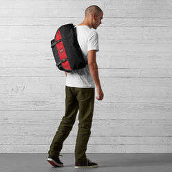 Citizen Messenger Bag in Black / Red - wide-hi-res view.