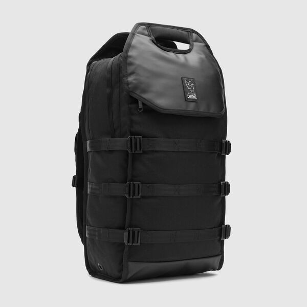 Kliment Backpack in Black / Black - medium view.