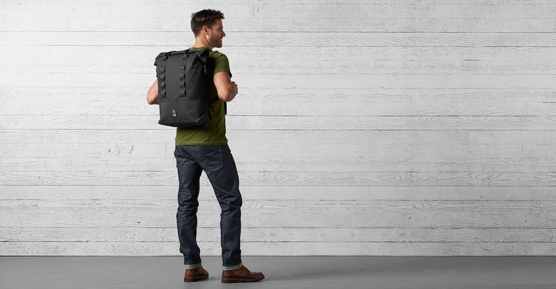 Excursion Rolltop 37 Backpack in Black - wide view.