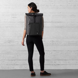 The Welterweight Yalta 2.0 Backpack in Charcoal / Black - wide-hi-res view.
