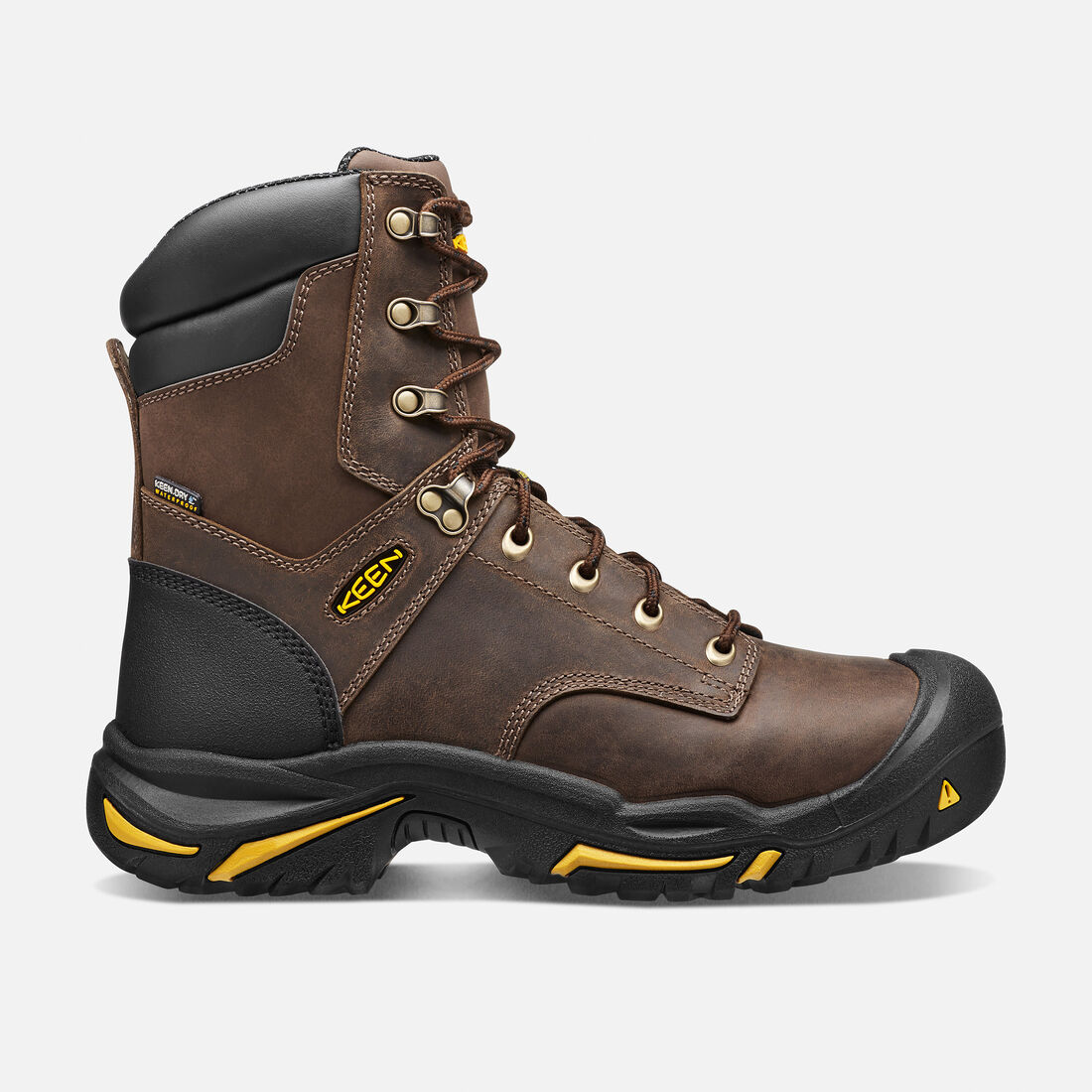 "Men's Mt Vernon 8"" (Steel Toe) in Cascade Brown - large view."
