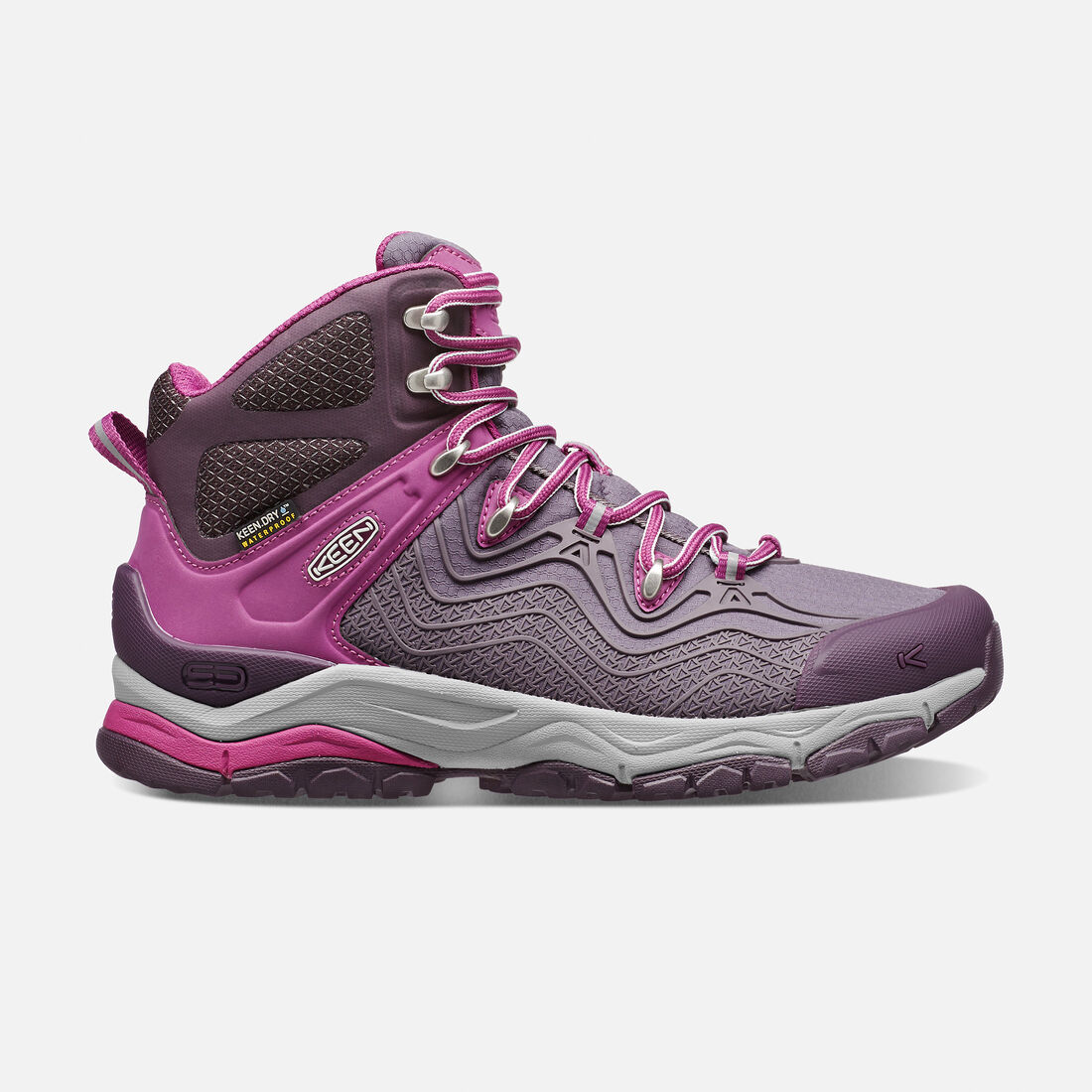 Women's APhlex Waterproof Boot in Plum/Shark - large view.