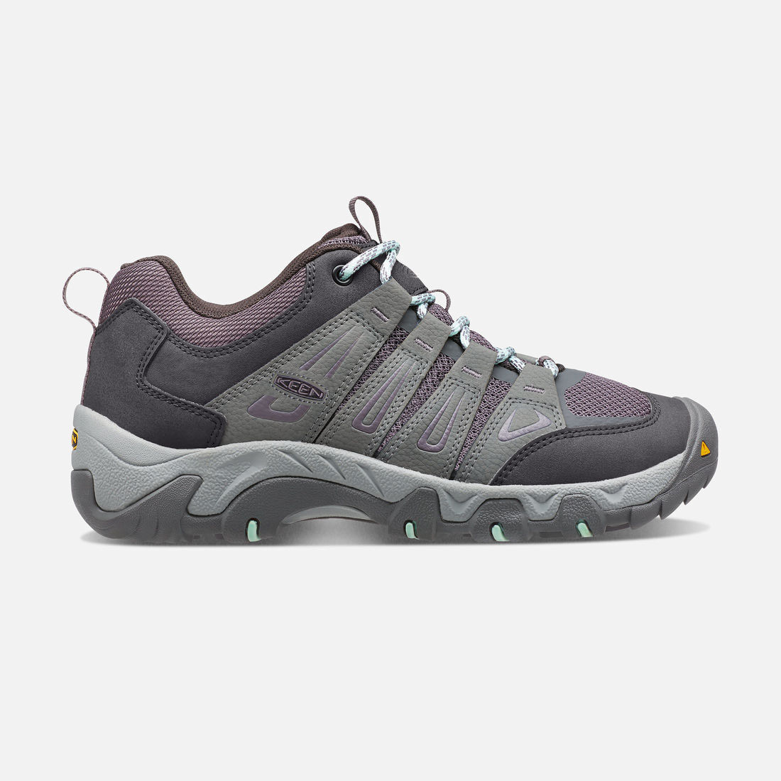 Women's Oakridge in Gray/Clear Aqua - large view.