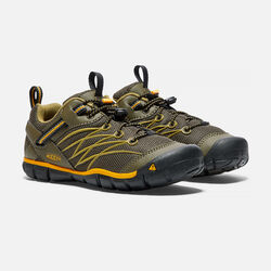 Big Kids' Chandler CNX in Dark Olive/Citrus - small view.