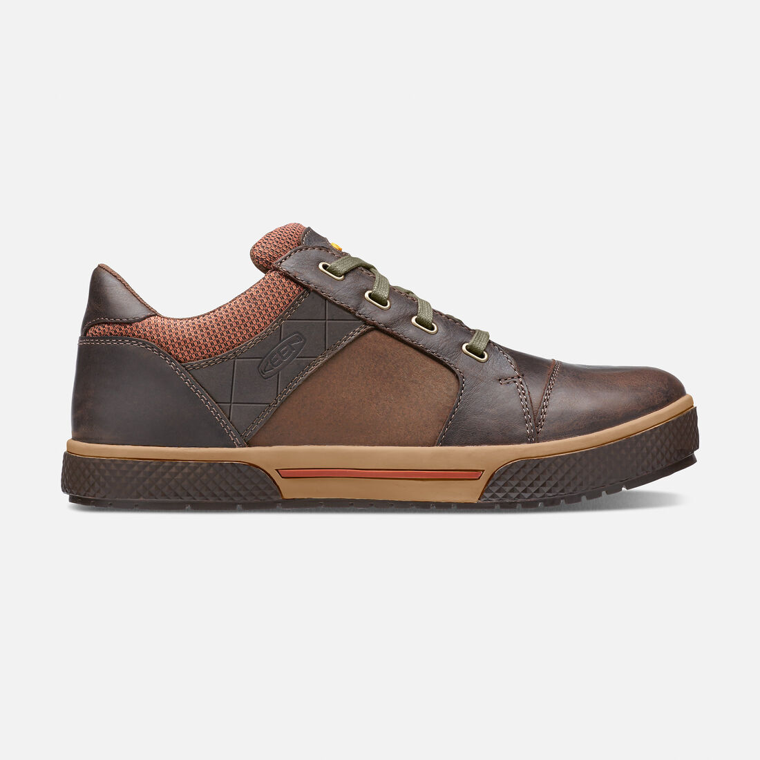 Men's Destin Low (Steel Toe) in Cascade Brown/Bombay Brown - large view.